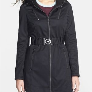 Laundry By Shelli Segal Belted Hooded Softshell